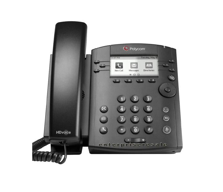 VVX 301 6-LINE DESKTOP PHONE WITH HD VOICE. COMPATIBLE PARTNER PLATFORMS: 20 POE SHIPS WITHOUT POWER SUPPLY.