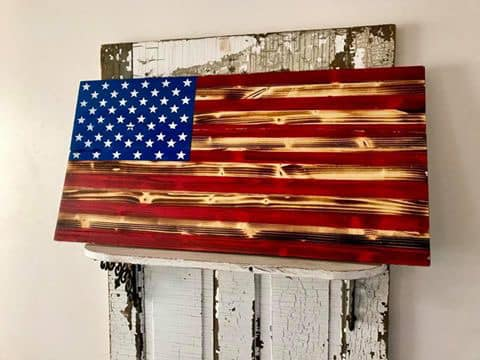 USA Wood Flags