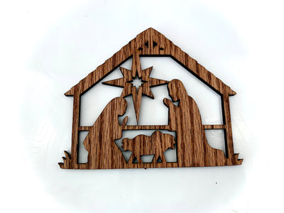 Oak Wood Jesus Sign