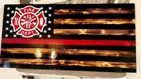 Red Line Fire Fighter Flag - Mills Farm Nebraska