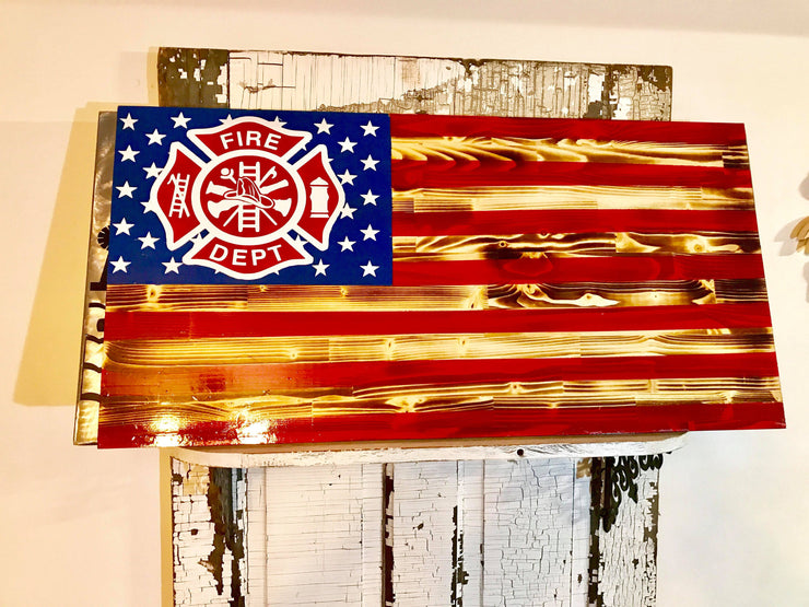 USA Fire Fighter Flag