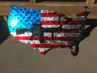 USA Black AR Flag - Mills Farm Nebraska