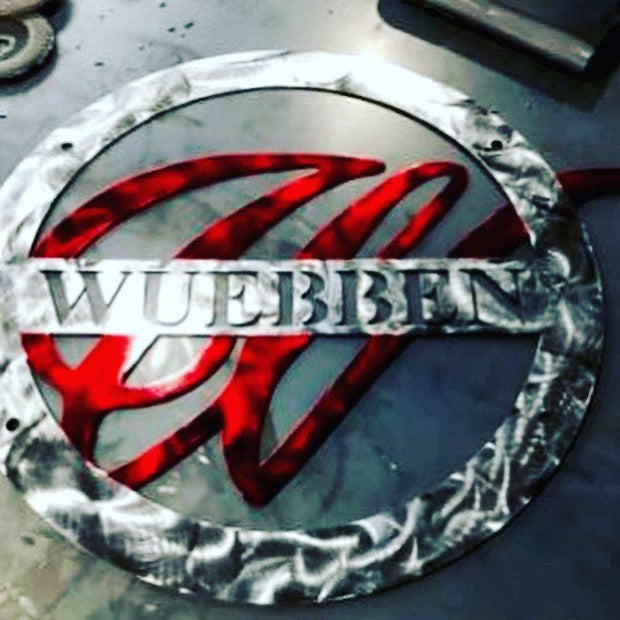 "24"" Round Custom Metal Wedding Sign"