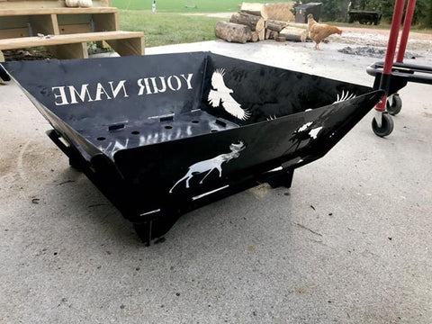Custom Portable Personalized Fire Pit