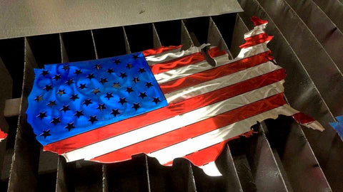 USA Metal American Flag