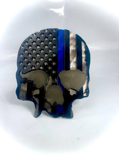Lethal Threat Blue Line Skull