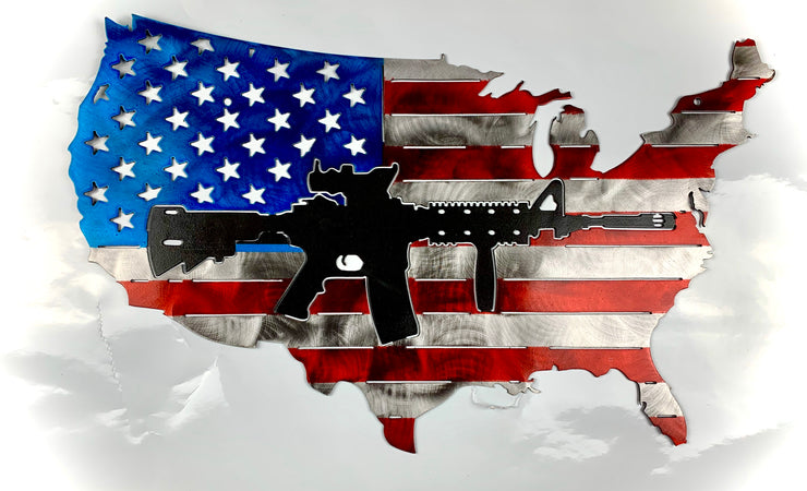 USA Black AR Flag