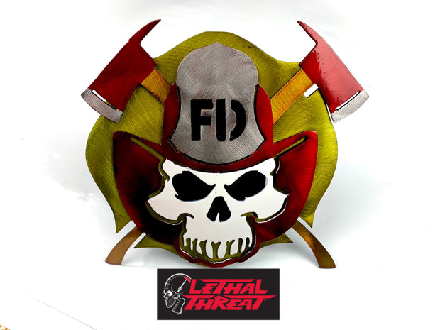 Fire Fighter Skull  Hitch Cover