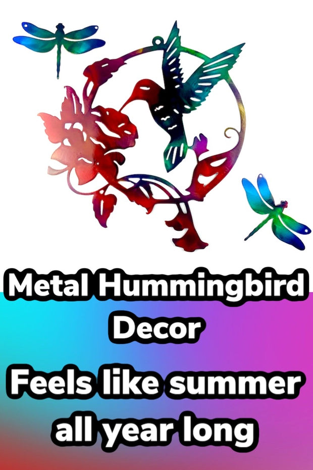 Hummingbird  Decor  Sign
