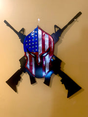 Lethal Threat American Spartan Sign