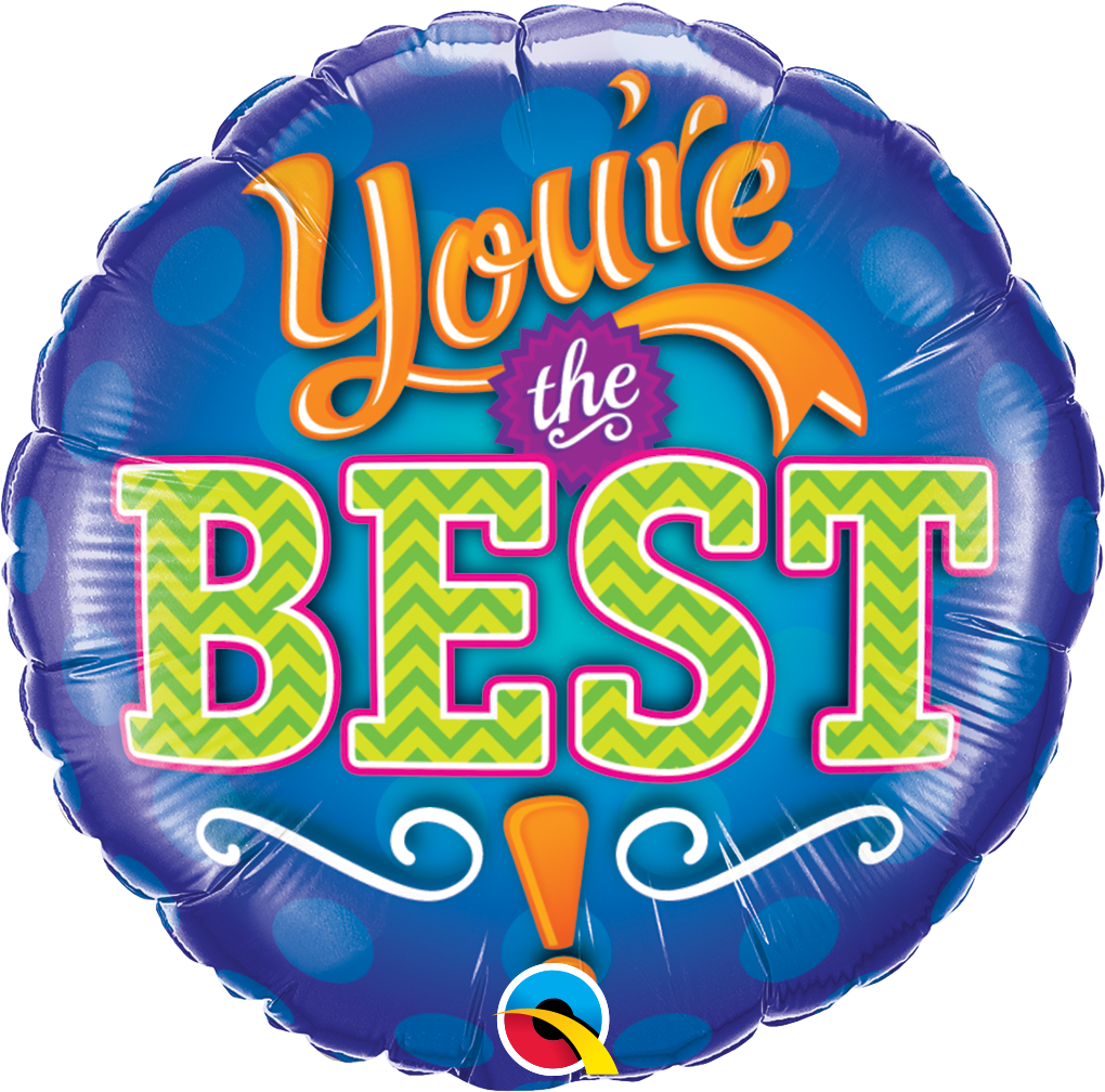 You're the Best Emblem 18 inch Round Foil