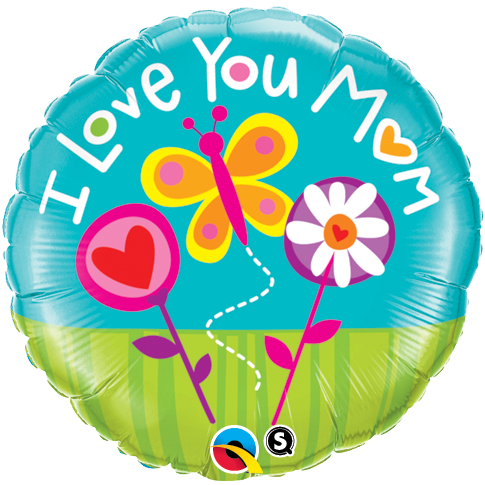 I Love You M(Heart)M 18 inch Round Foil