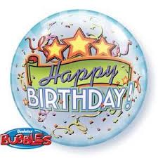Happy Birthday Stars 22 inch Bubble