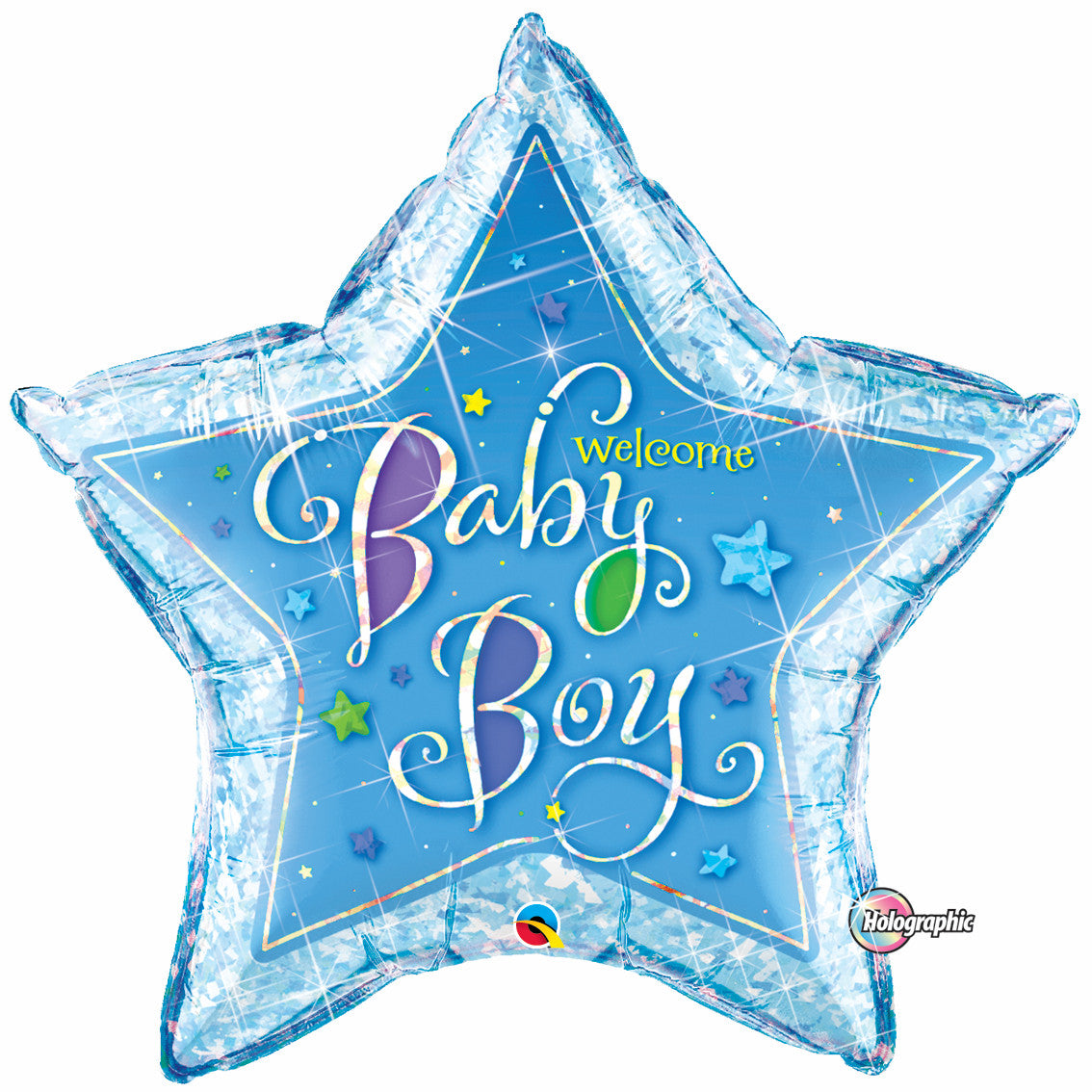 "36"" Foil Welcome Baby Boy Stars"