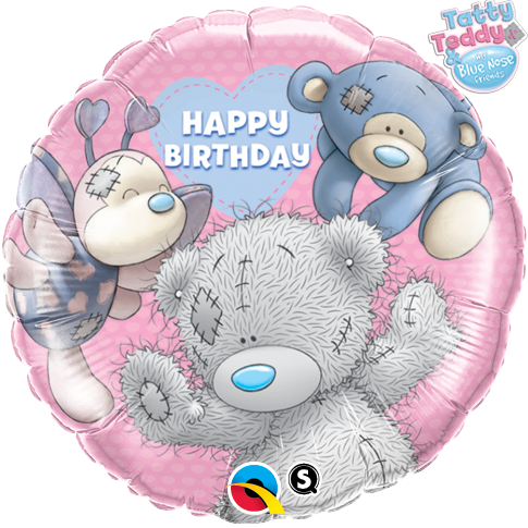 Tatty Teddy Blue Noses Friends Birthday 18 inch Round Foil