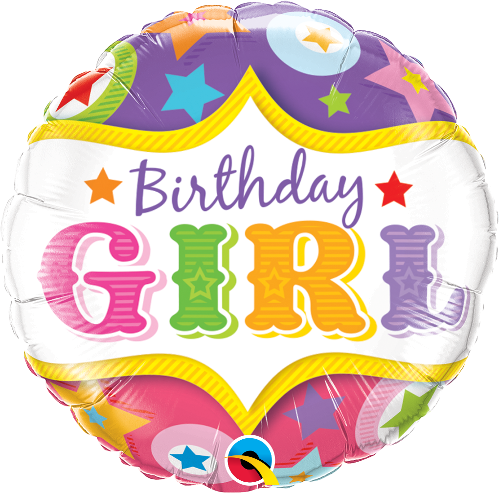 Birthday Girl Circus Stars 18 inch Round Foil