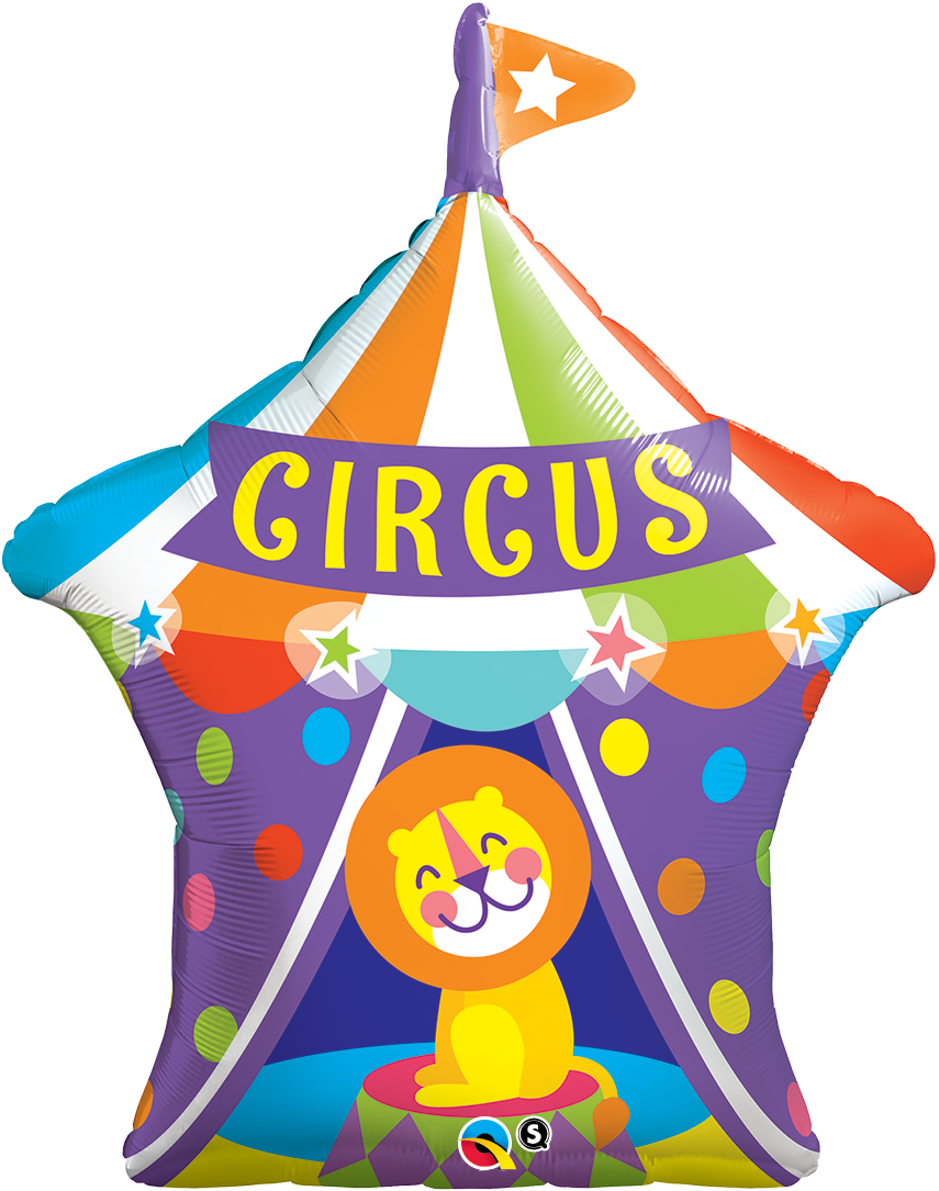 Big Top Circus Lion 36 inch Shaped Foil