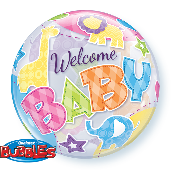 Welcome Baby Animals 22 inch Bubble