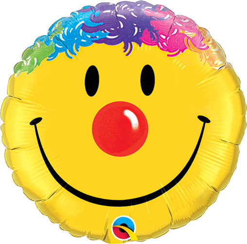 Clown Smile Face 36 inch Round