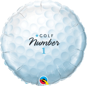 Golf Ball No 1 18 inch Round Foil