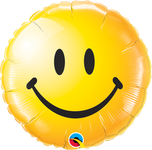 Smiley Face Yellow 18 inch Round Foil
