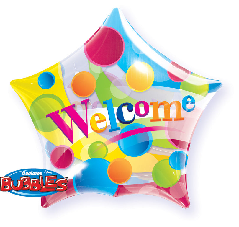 Welcome Big Dots 22 inch Star Bubble