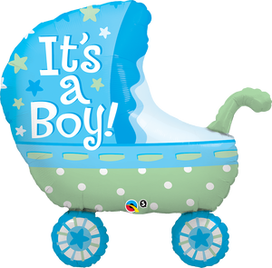 It's a Boy Baby Stroller 35 inch Shaped Foil