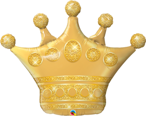 Golden Crown 41 inch Shaped Foil