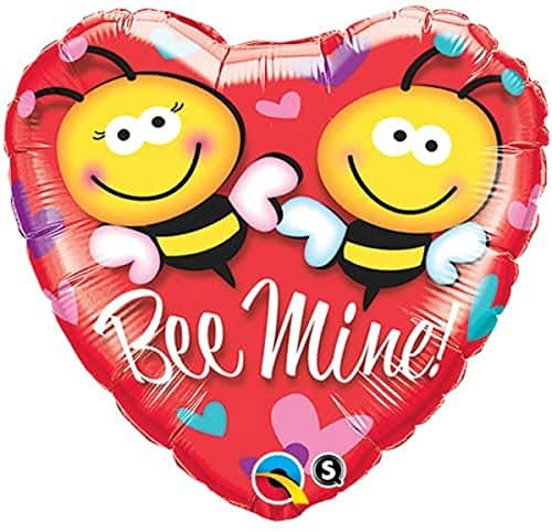 Bee Mine 18 inch Heart Foil