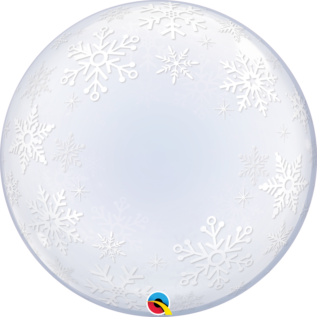 Frosty Snowflakes 24 inch Deco bubble