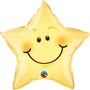 Smiley Face Star 20 inch Star