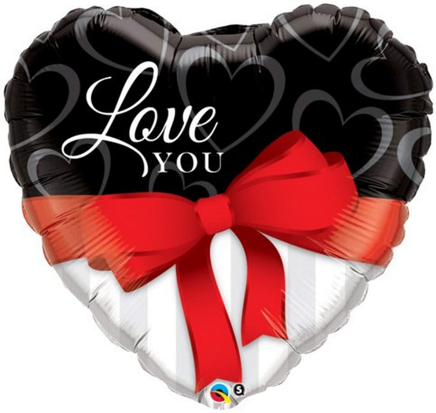 Love You Red Ribbon 36 inch Heart Foil