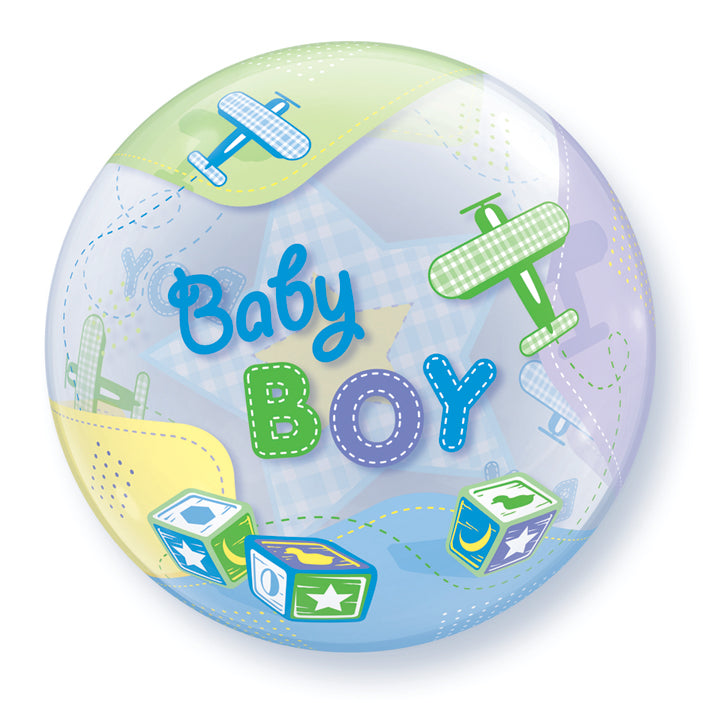 Baby Boy Airplanes 22 inch Bubble