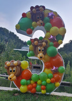 Balloon Frame - Number Three - 120cm x 76cm