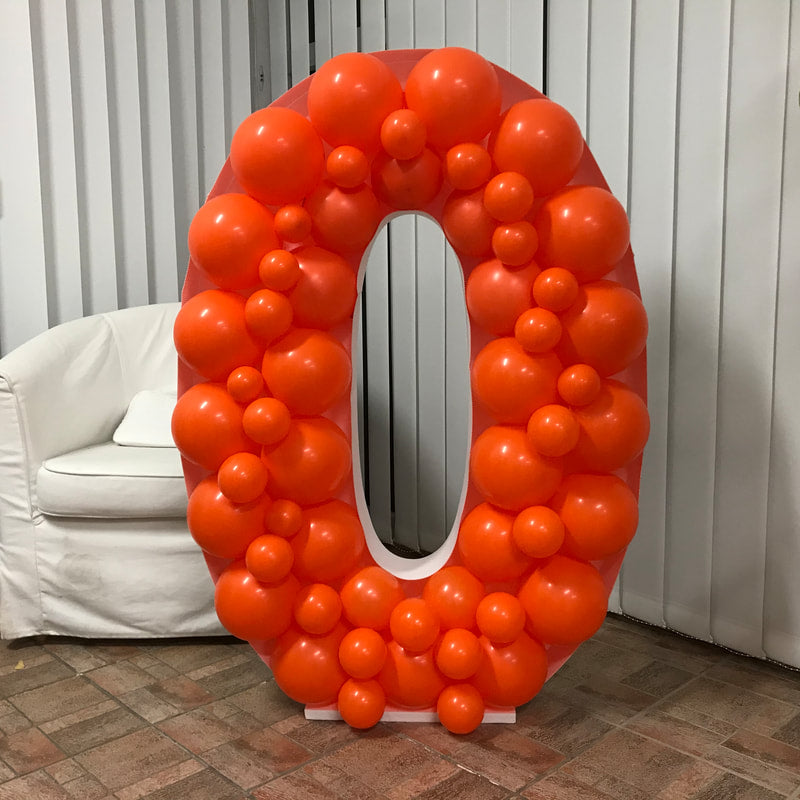 Balloon Frame - Number Zero 120cm