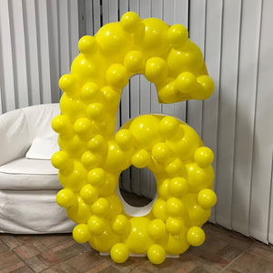 Balloon Frame - Number Six - 120cm x 80cm