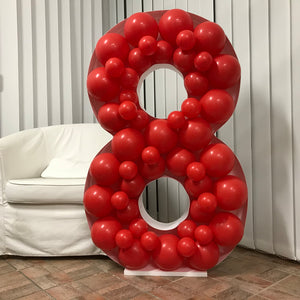Balloon Frame - Number Eight - 120cm x 76cm