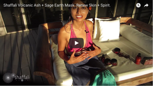 Nutrient RICH infusion with Shaffali Volcanic Ash + Sage Earth Mask