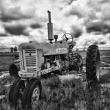 Black and White Tractor Art