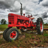 Red Tractor Art Prints