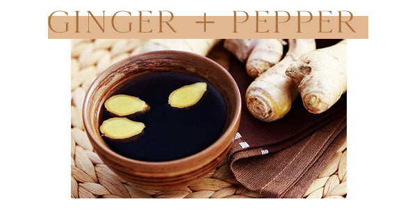 Ginger and black pepper