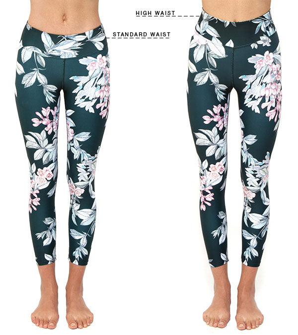 Standard and High Waist Legging Fit Guide