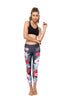 Hibiscus Tropical Standard Waist  Yoga Legging - 7/8 Length