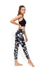 Dark Blooms Standard Waist Activewear & Yoga Legging - 7/8 Length