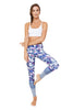 Floral Artistry High Waist Printed Activewear and Yoga Legging - Full Length