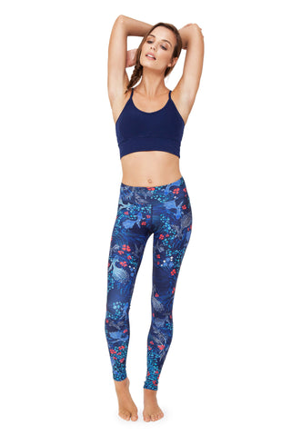 Japanese Story High Waist Printed Activewear and Yoga Legging - Full Length