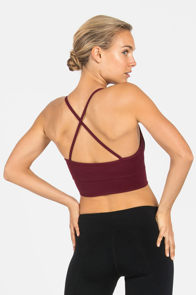 Ellis Crop Bra - Wine