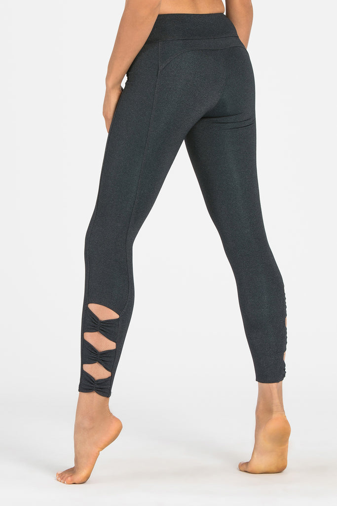 Charcoal Bow Legging - 7/8 Length