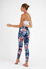 Tropical Love High Waist Printed Activewear and Yoga Legging - Full Length