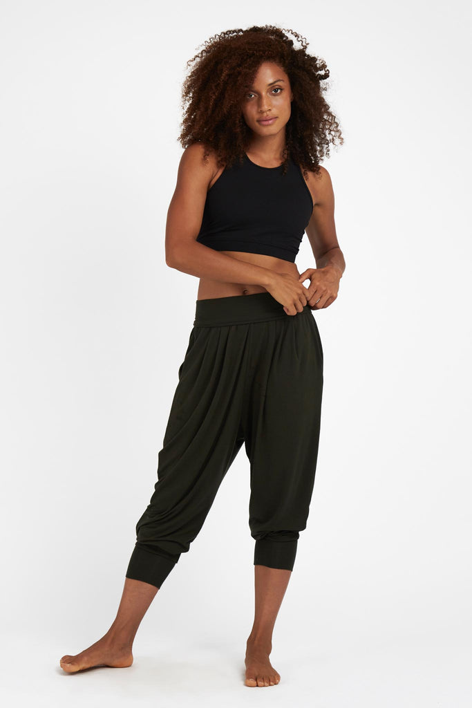 Deep Olive Relax Pants